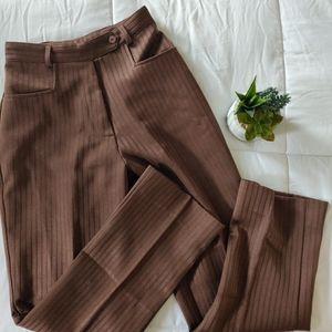 VINTAGE BROWN HIGH WAIST TROUSER PANTS